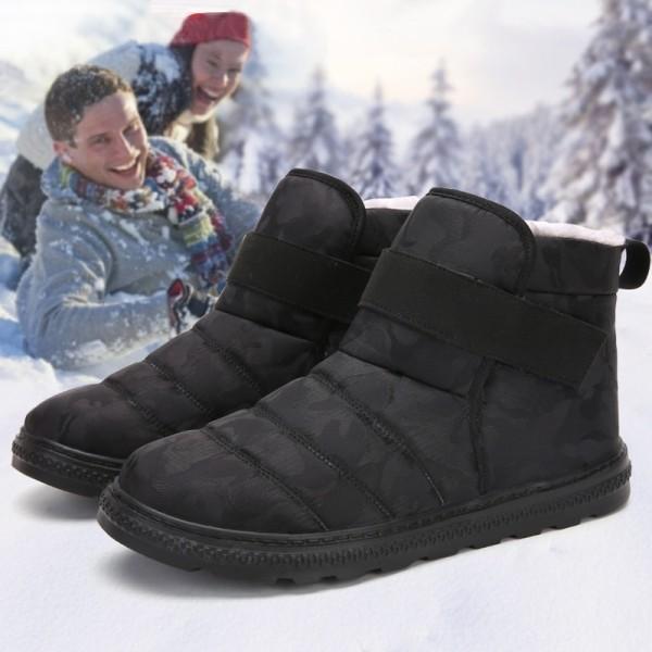 Autumn Winter Shoes Men Boots Warm black 40