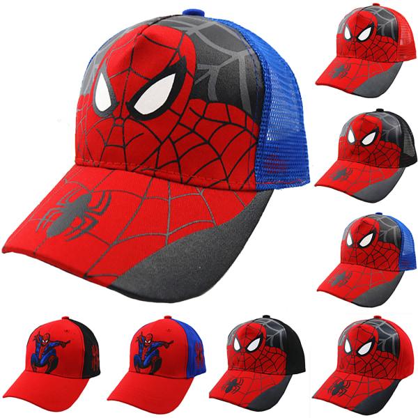 Pojkens favoritfödelsedagspresent Spiderman Hip-Hop hatt snygg Grid red