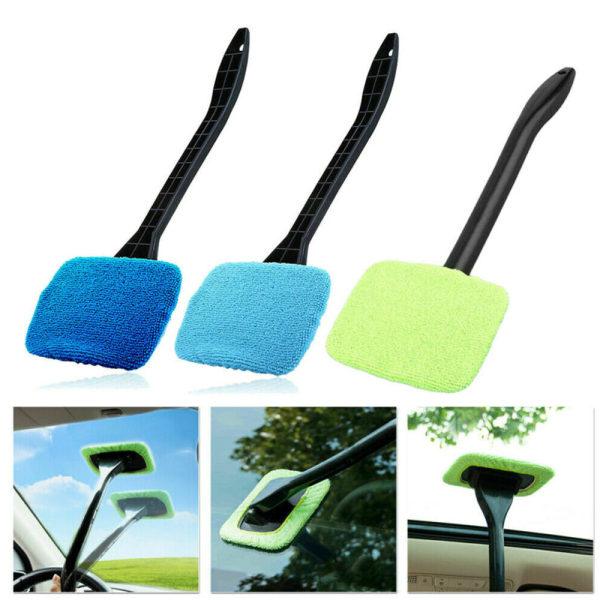 Rengöringsborste för bilfönster Handhållen mikrofiberduk Green