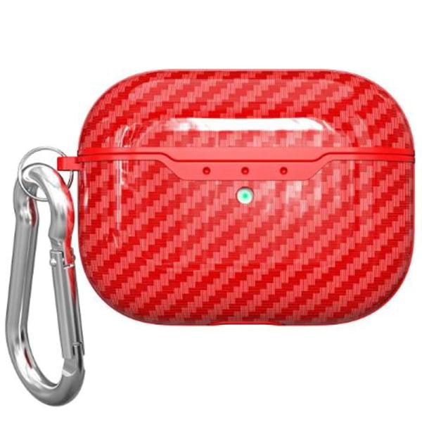 Kolfiber hörlursfodral Airpods 3 Generation Bag Protable Red