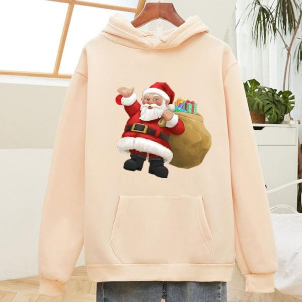 Christmas Unisex Santa Hoodie Pullover Sweatshirt Xmas Baggy Top