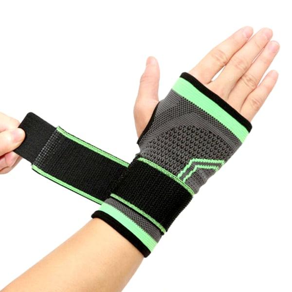 Kompression Fitness Handskar med justerbar elasticitet Green XL