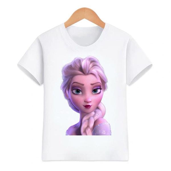 Essentials Kortärmade t-shirts för flickor Enkel och mångsidig As pics 100CM