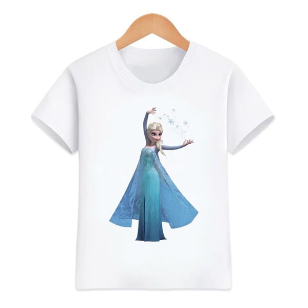 Essentials Kortärmade t-shirts för flickor Enkel och mångsidig As pics 140CM