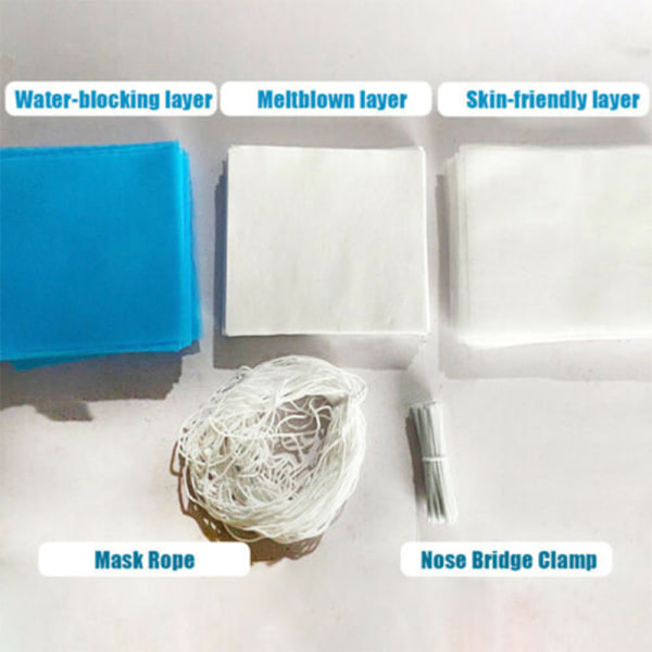 Face Protect Solid Color Non-woven Fabric Raw Materials Middle 20m