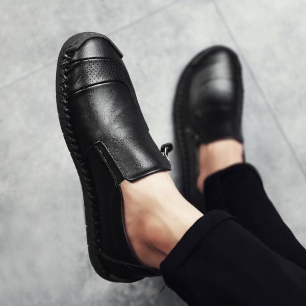 Mode Herrläder Loafers Casual Patchwork light brown 40