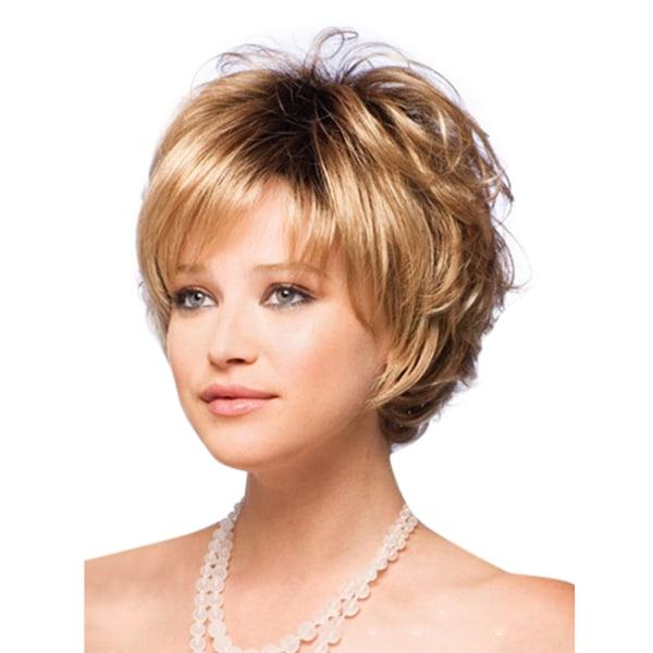 Mode kvinna kort lockigt peruk elastisk andningsbar bär mössa