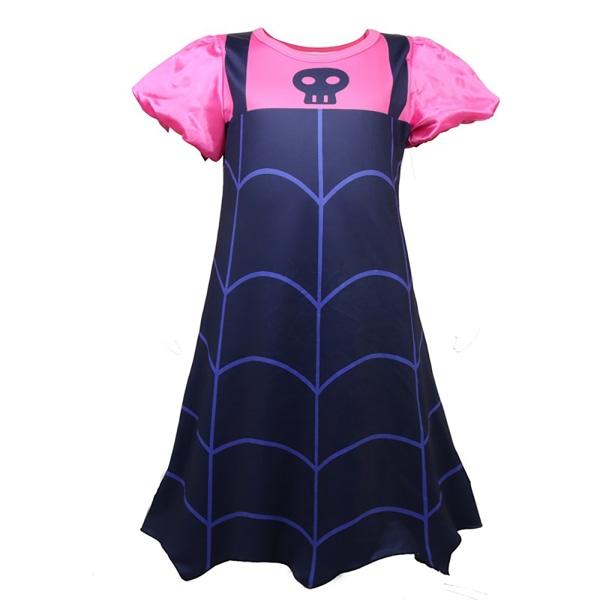 Girls Party Cosplay Skull Vampire Dress Kortärmad kreativitet As pics 130cm
