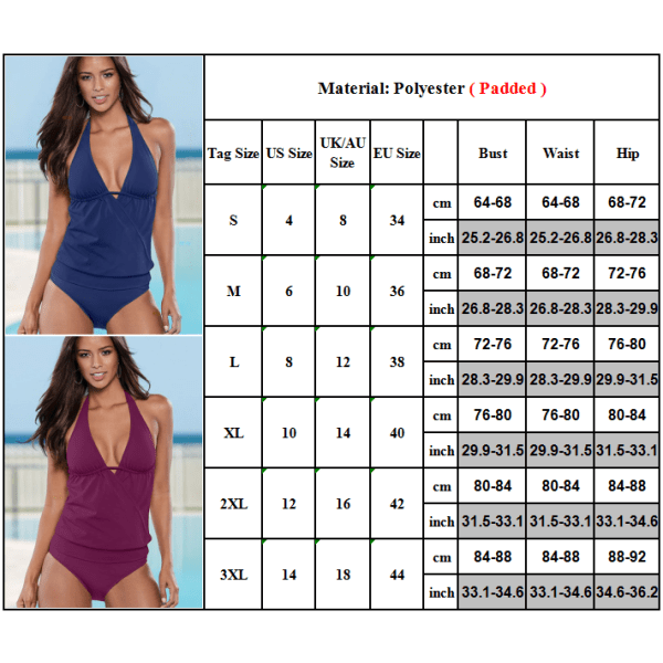 Flickor Enfärgad Baddräkt Halter Sexig Beach Bikini Kostymer Green 2XL