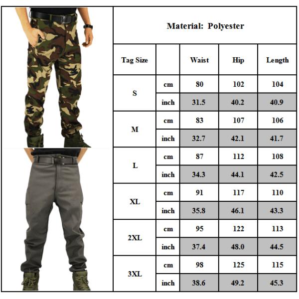 Imitation Shark Skin Soft and Wear-resistant Assault Pants Grey L