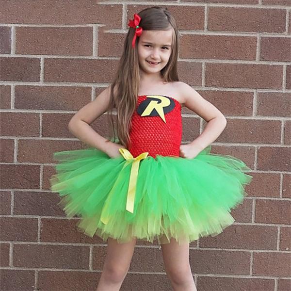 Kid Girl Short Kjol Party Recreation Net Garn Party Pettiskirt Green M
