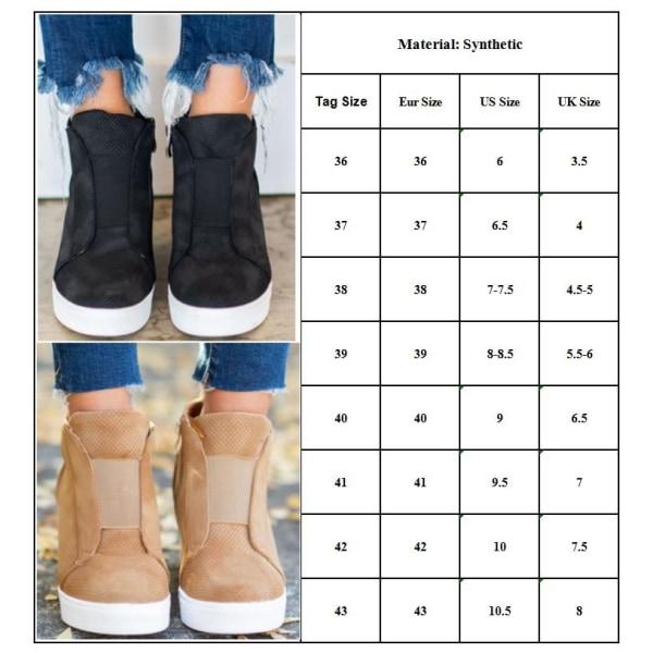 Ladies Fashion Zipper High Heels Shoes Leopard brown 41