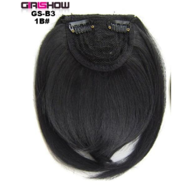 Ladies Girls Bangs Hair Piece Mode Peruk Dekoration Realistisk 1B#