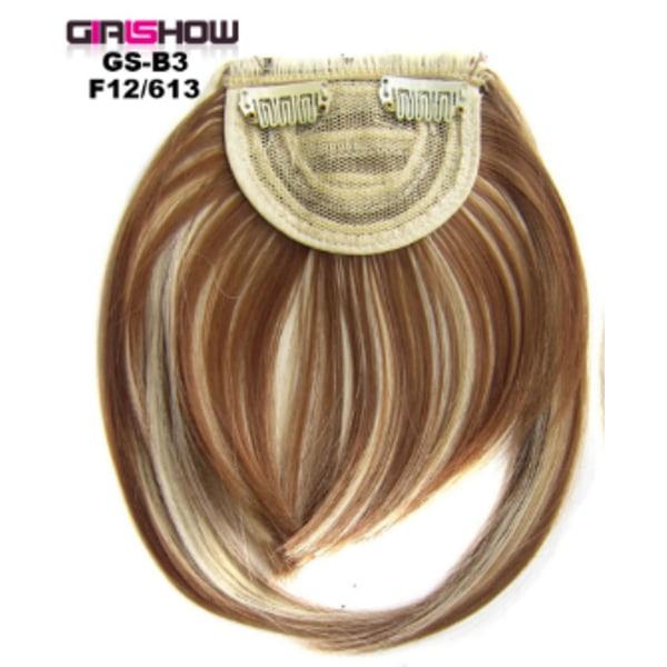 Ladies Girls Bangs Hair Piece Mode Peruk Dekoration Realistisk F12-613