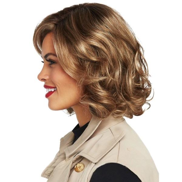 Damer Gradient lockiga peruker andas bekvämt mänskligt hår
