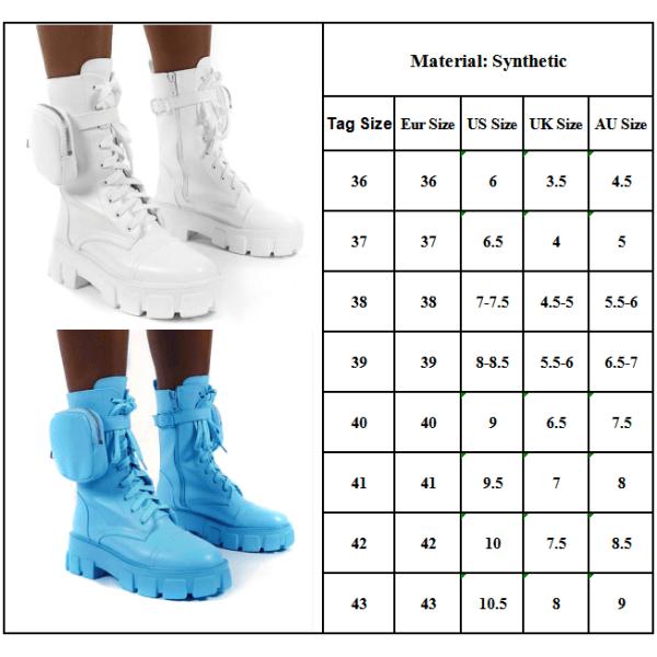 Womens Combat Ankle Boots Platform Goth Punk Zip Lace Up Shoes Black 38