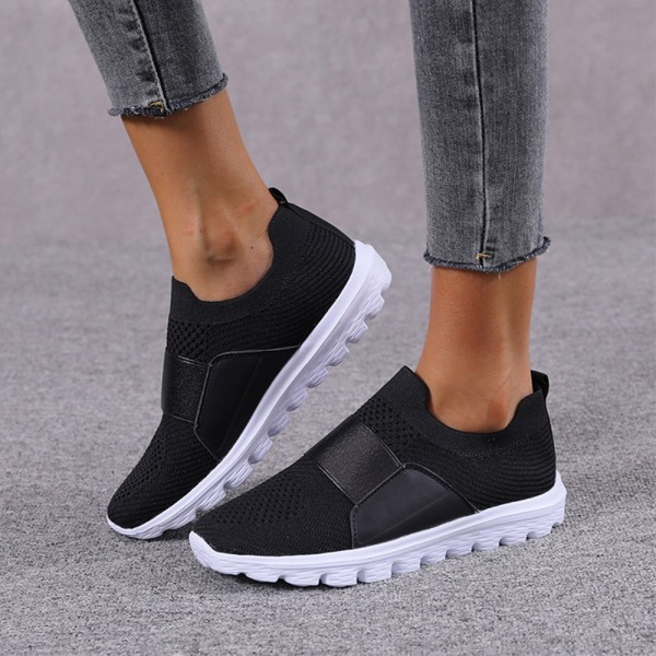 Women Mesh Breathable Sneakers Trainers Soft Running Shoes Black 41
