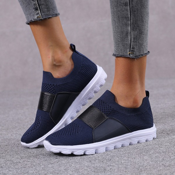 Women Mesh Breathable Sneakers Trainers Soft Running Shoes Blue 41