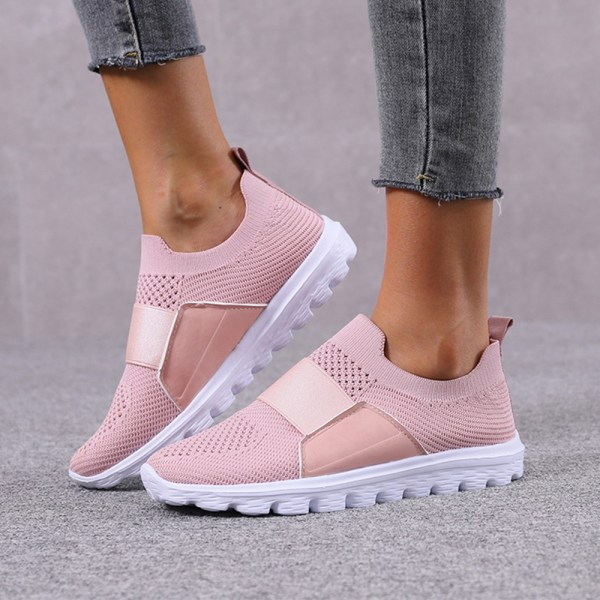 Women Mesh Breathable Sneakers Trainers Soft Running Shoes Pink 41