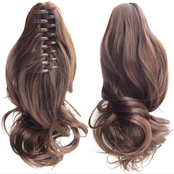 Ladies Natural Ponytails Claw Clip in Hair Extensions Hairpiece 4#
