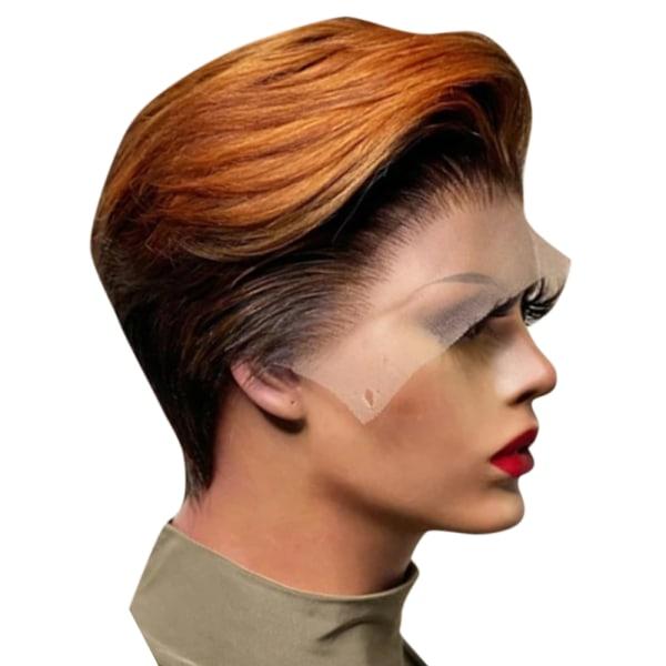 Damer personlighet färgade kort rakt hår peruk öronlängd