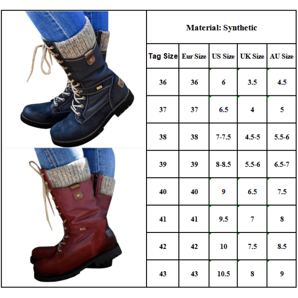 Ladies Woolen Mouth Martin Boots Casual Shoes Red 38