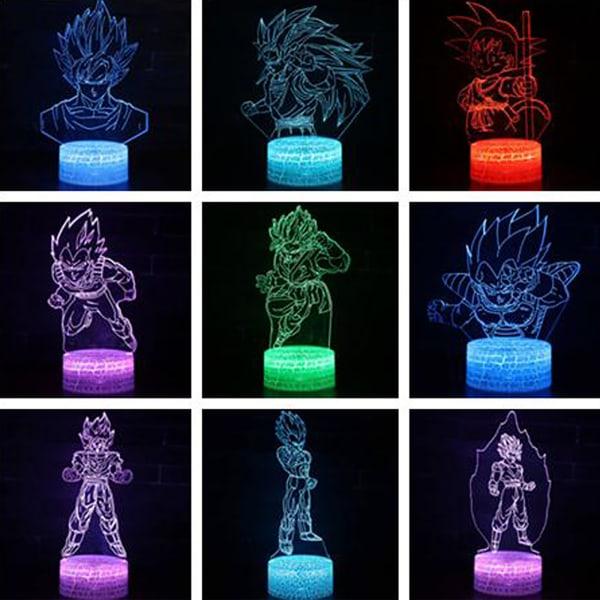 LED Creativity Night Light Dragon Ball 3D Lighting Barngåva
