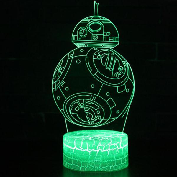 LED Creativity Night Light Planet Series 3D Lighting Kids Gift BB-8