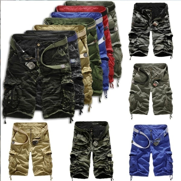 Man Cargo Shorts Military Combat yellow