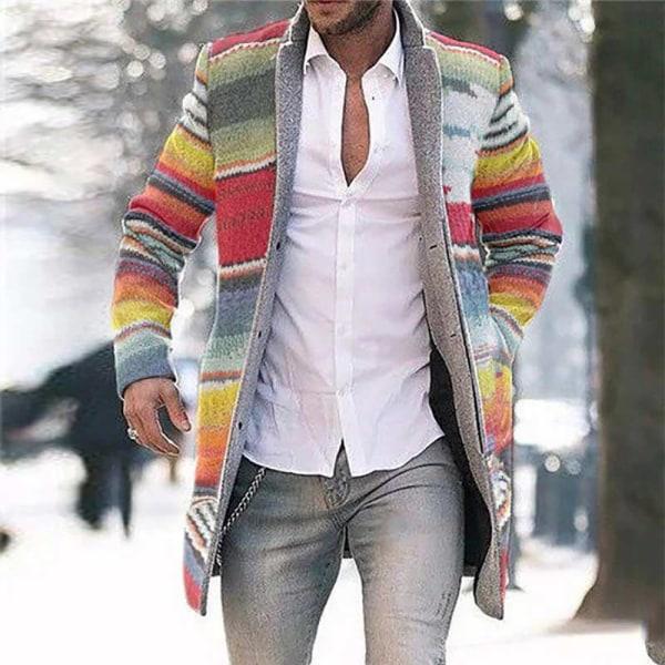 Men's Cardigan Casual Windbreaker Long Sleeve Jacket 4XL