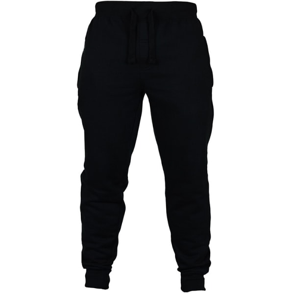 Men's Casual Sports Fitness Pants Drawstring Loose For Running Black XL