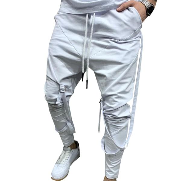 Men's Casual Sports Pants Hip-hop Fitness Grey L