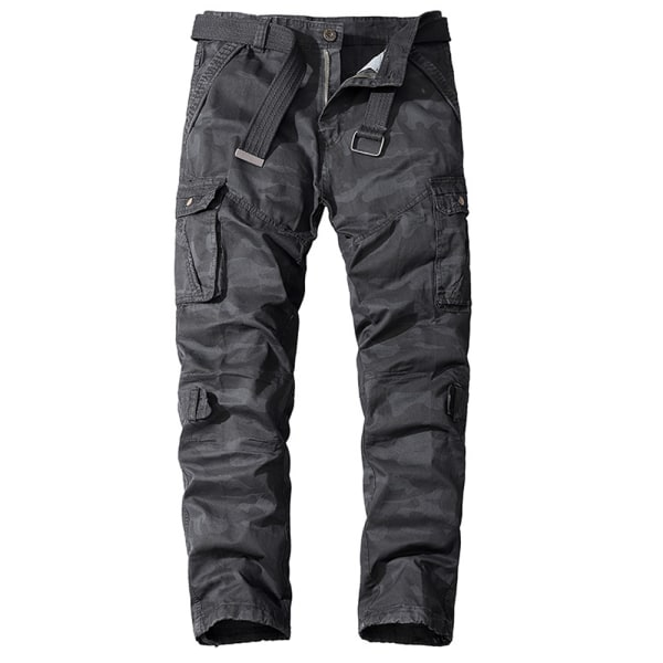 Men's Cotton Sports Camouflage Trousers Overalls Pants Dark Grey 38