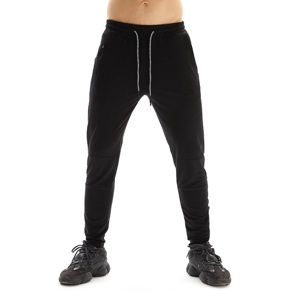Men's Stretch Casual Multi-pocket Sweatpants Trousers Black XL
