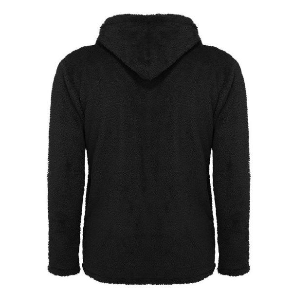 Men's Suede Coat Hooded Button Cardigan beige 3XL