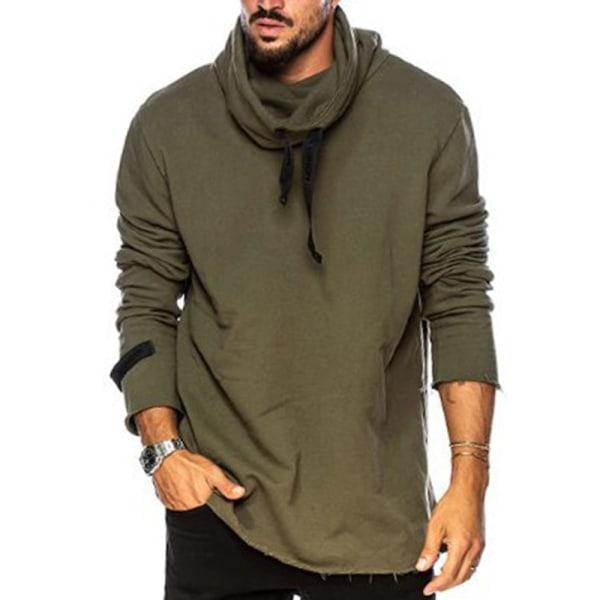 Men's Sweater Daily Sports Hoodies Green L