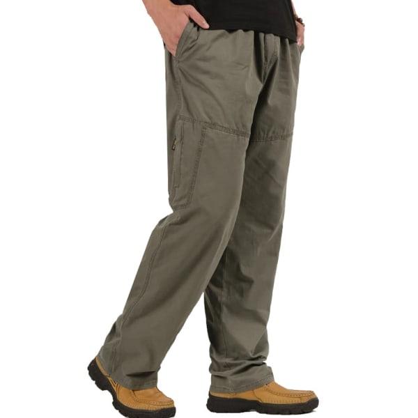 Men Zipper Trousers Sports Sweatpants Casual Straight Pants Dark Grey 3XL