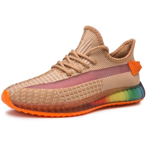 Mens Korean Edition Coconut Sneaker Casual Breathable Running orange 40