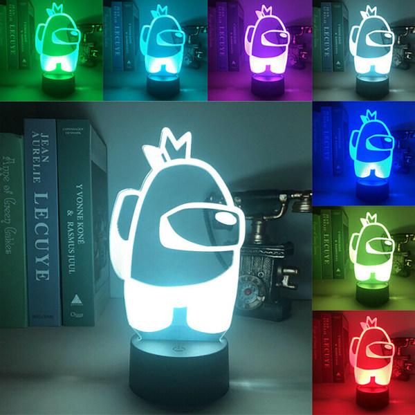 Flerfärgad 3D Night Light Home Creative Bordslampa Barngåva