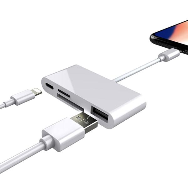 Multifunktionell 4 i 1 USB OTG-adapterkortläsarkontakt