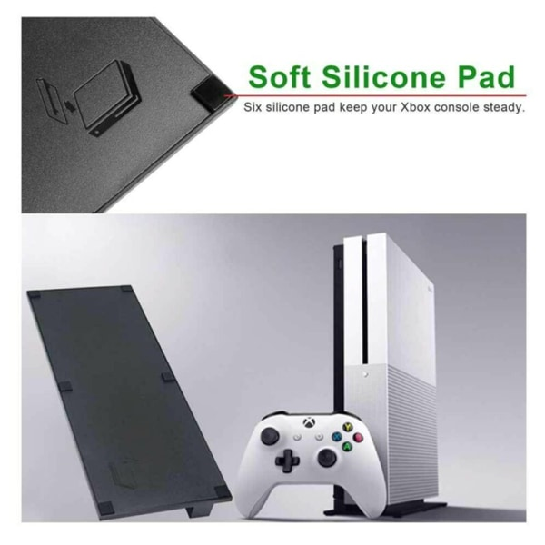 Halkfri vertikal stativdockhållare för XBOX ONE S SLIM-konsol White