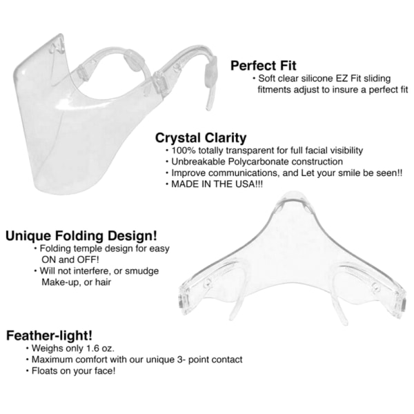 Protective Visor Safety Sneeze Protection Transparent