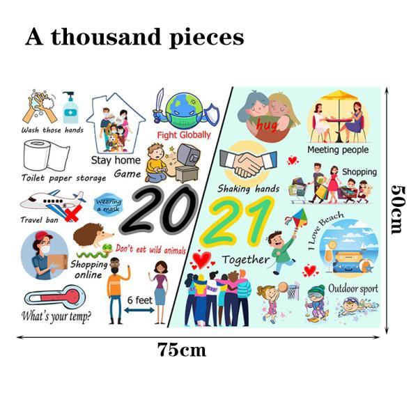 Pussel 1000 bitar schack pedagogiska leksaker familjeunderhållning Puzzle D