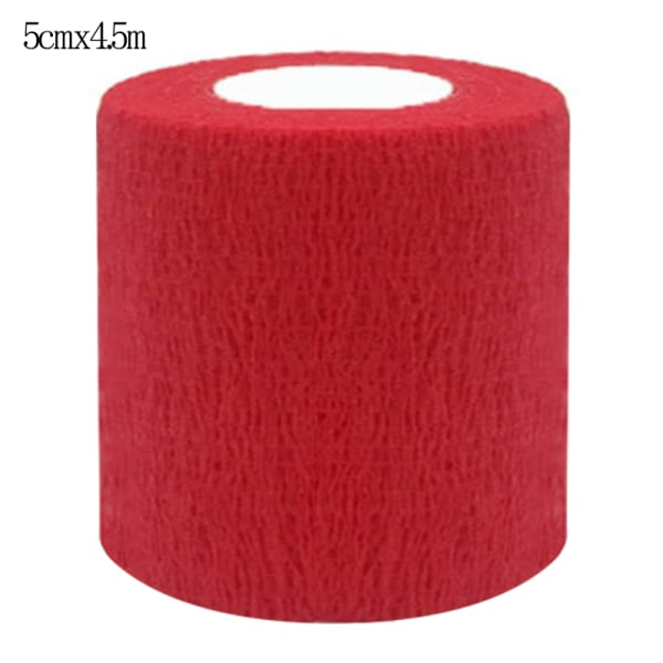 Self-Adhesive Bandage First Aid Elastic Wrap Cohesive Tapes Red 5*450cm
