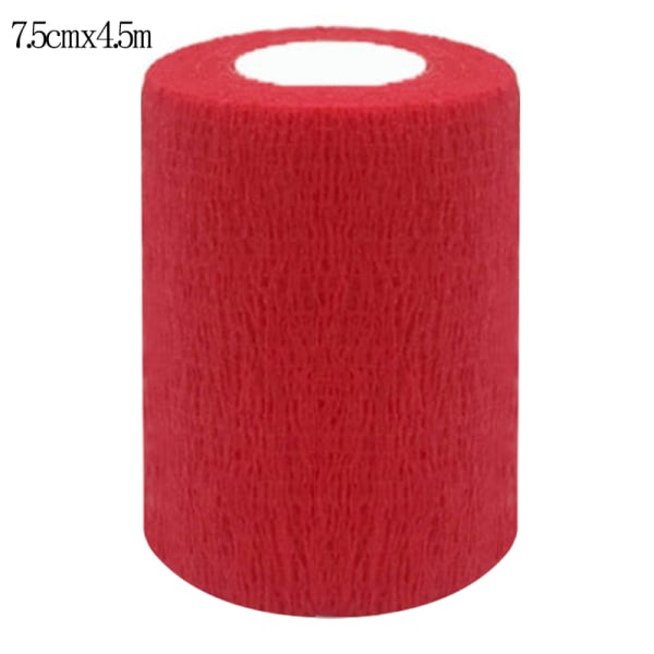 Self-Adhesive Bandage First Aid Elastic Wrap Cohesive Tapes Red 7.5*450cm