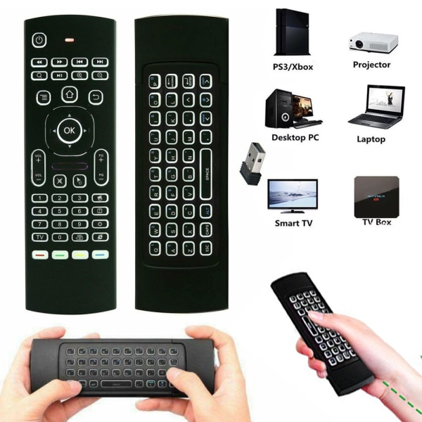 Smart TV Android PC Backlight 2.4G Wireless Air Fly Mouse Remote