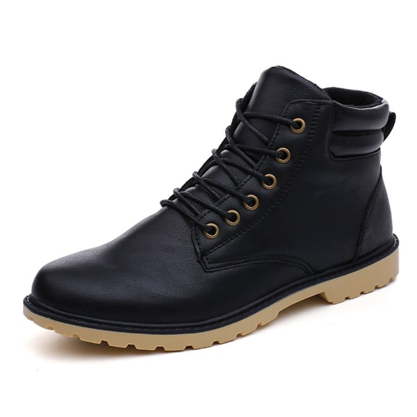 Snow Boots Protective and Wear-resistant Sole Man Boots Black 44