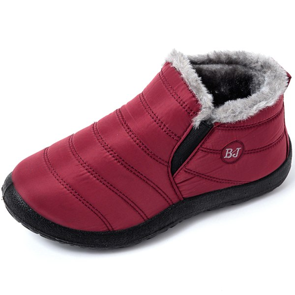 Snow Boots Warm Fur Plush Insole Plush red 37