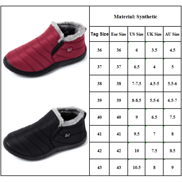 Snow Boots Warm Fur Plush Insole Plush purple 41