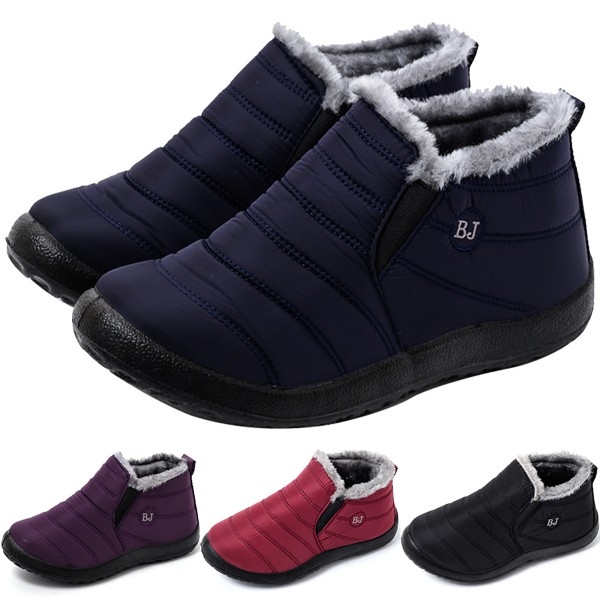 Snow Boots Warm Fur Plush Insole Plush purple 37